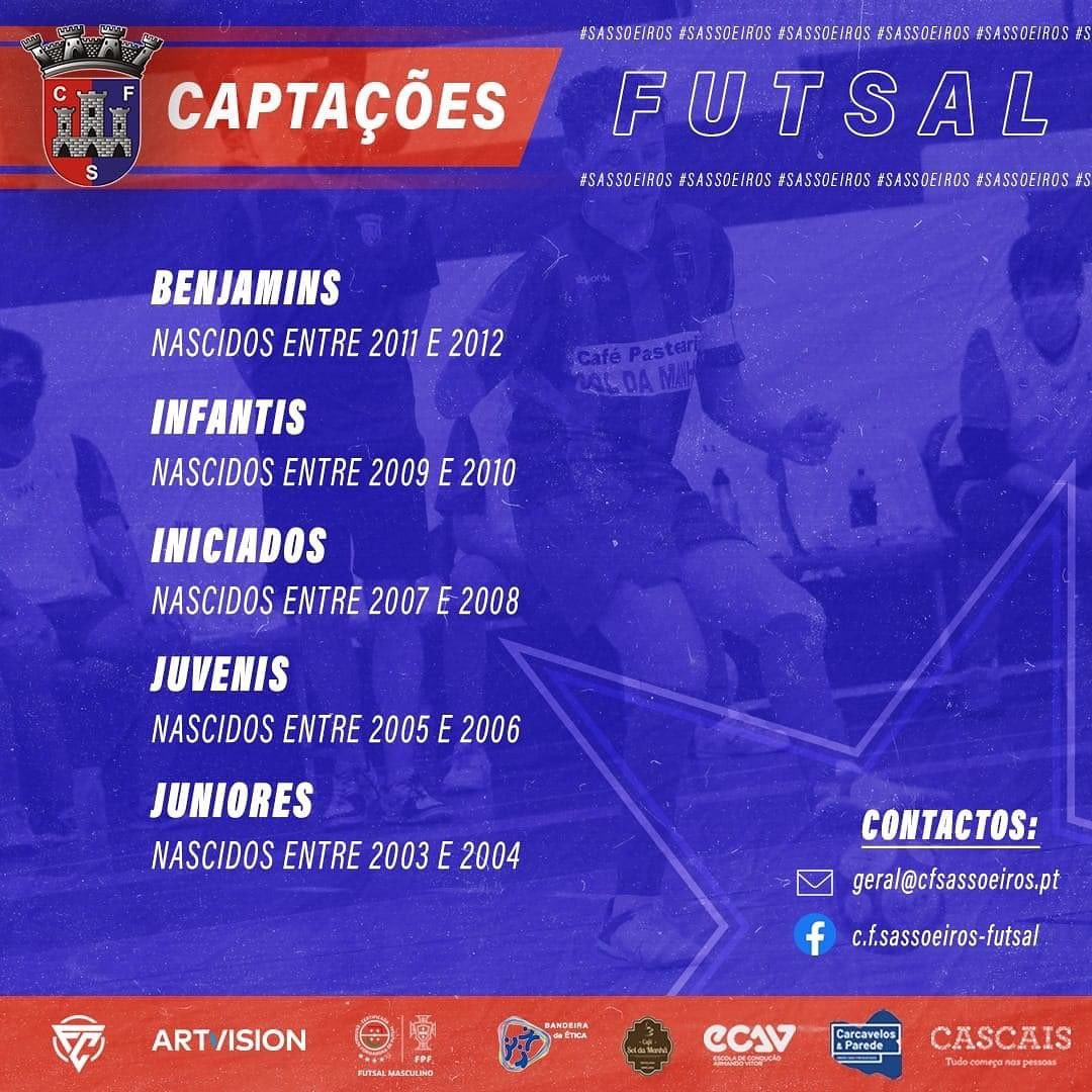 Captações Futsal – 2021/22